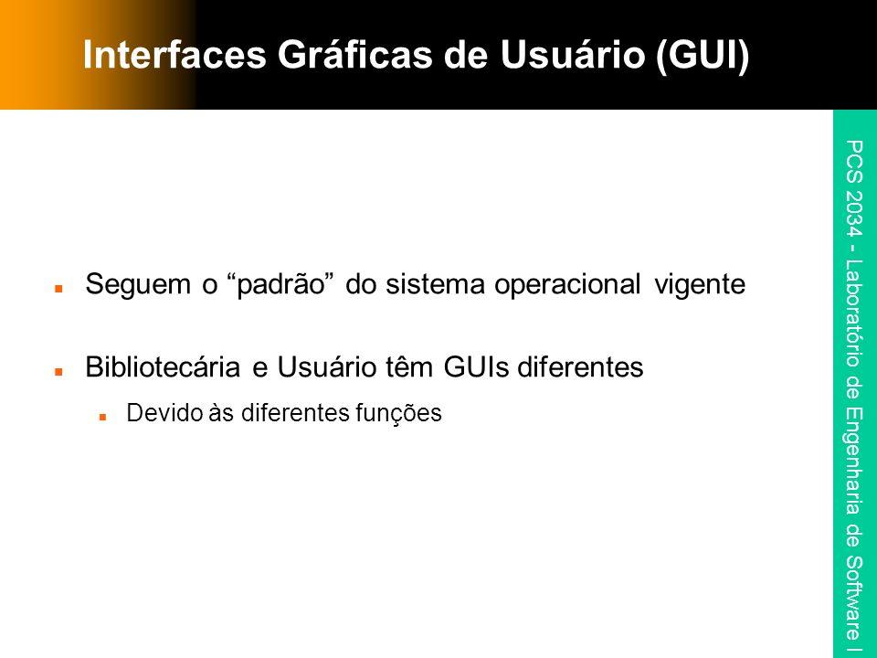 Interfaces Gráficas de Usuário (GUI)
