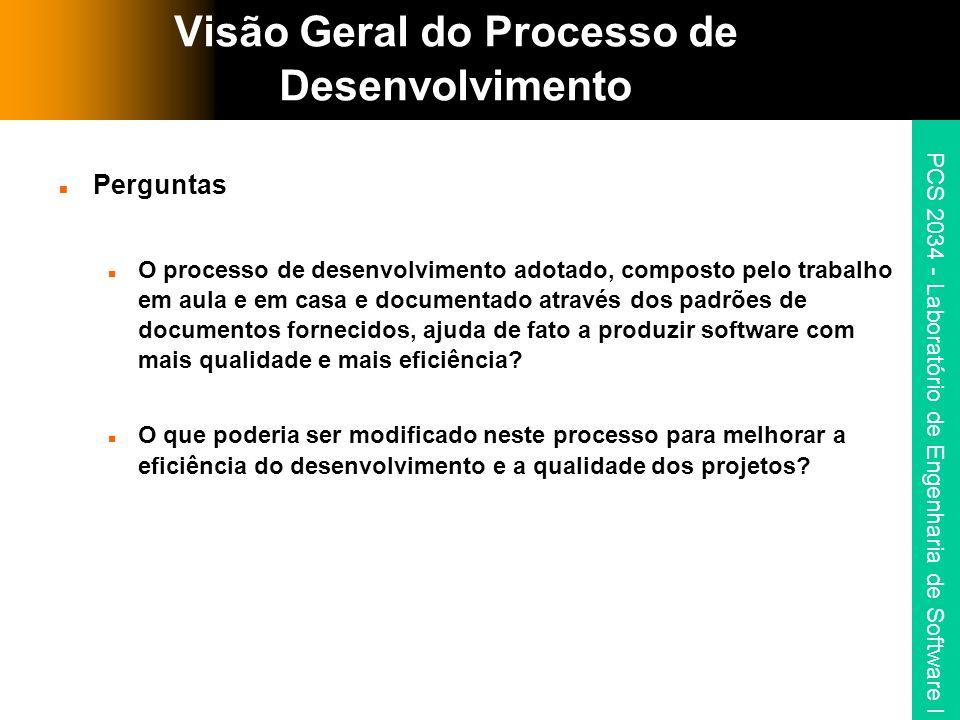 Visão Geral do Processo de Desenvolvimento