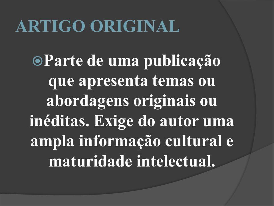 ARTIGO ORIGINAL