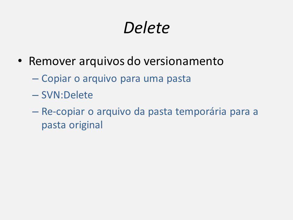 Delete Remover arquivos do versionamento