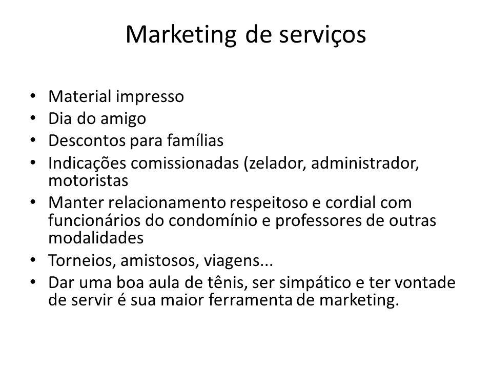 Marketing de serviços Material impresso Dia do amigo