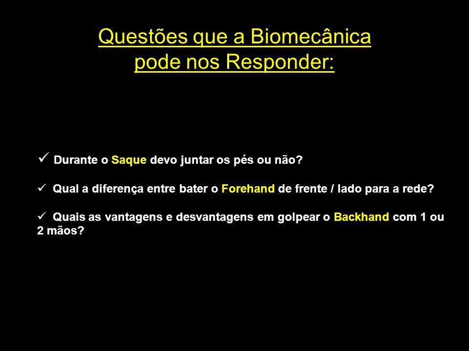 Questões que a Biomecânica pode nos Responder: