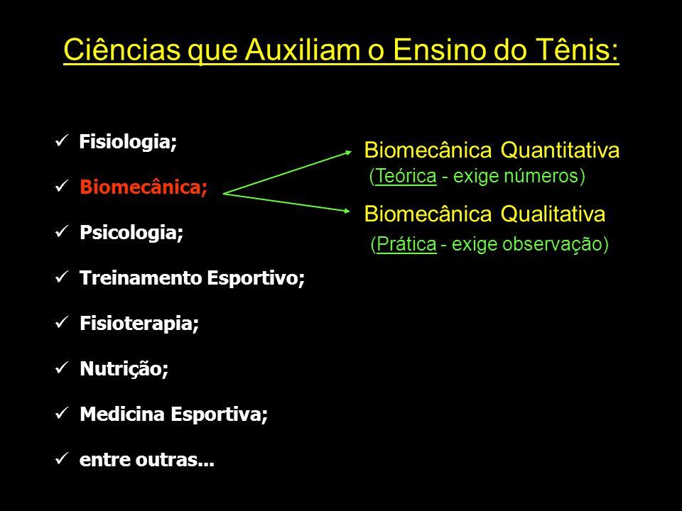 Ciências que Auxiliam o Ensino do Tênis:
