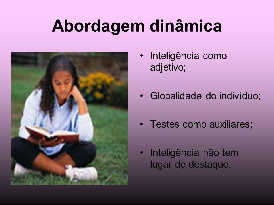 Abordagem dinâmica Inteligência como adjetivo;