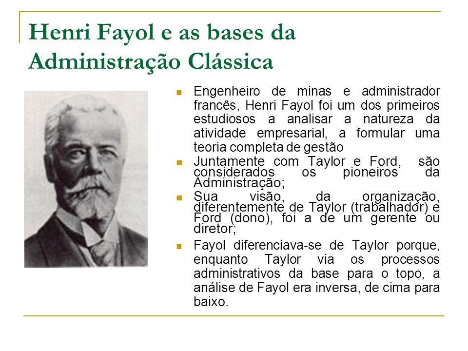 Henri Fayol e as bases da Administração Clássica