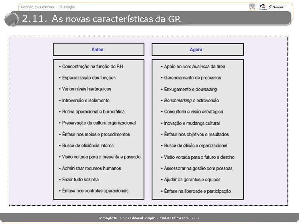 2.11. As novas características da GP.