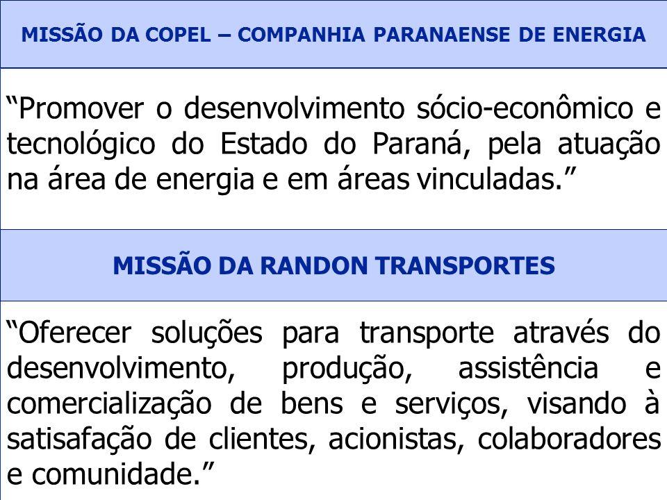 MISSÃO DA COPEL – COMPANHIA PARANAENSE DE ENERGIA