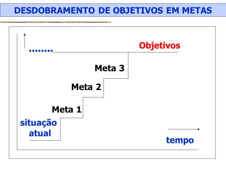 DESDOBRAMENTO DE OBJETIVOS EM METAS
