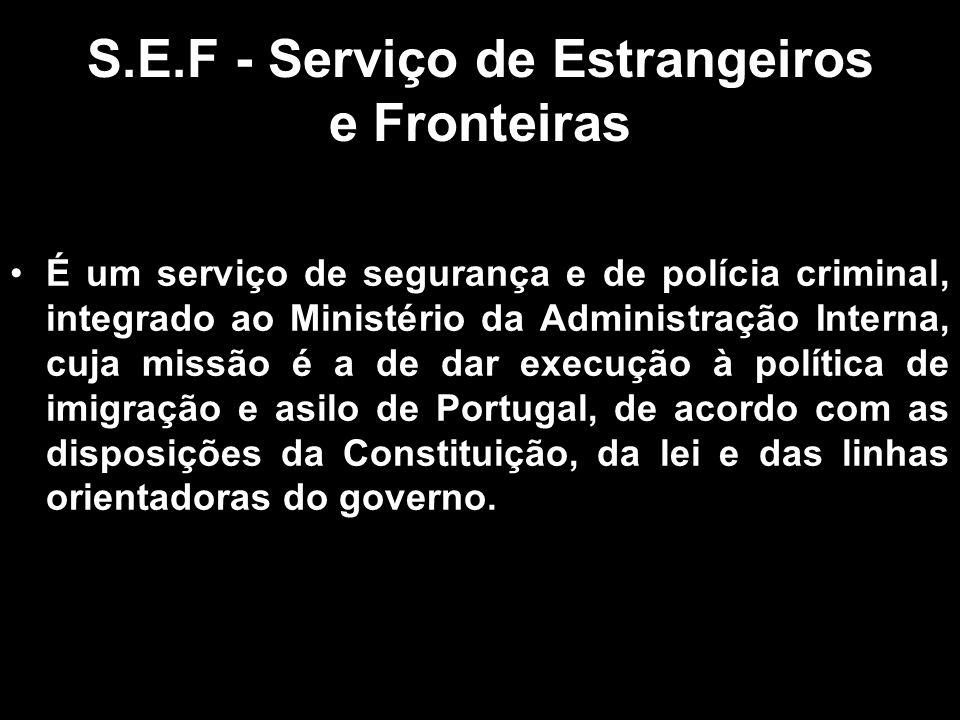 S.E.F - Serviço de Estrangeiros e Fronteiras