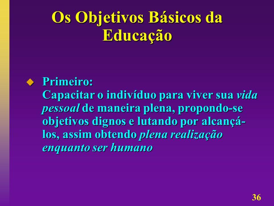 Os Objetivos Básicos da Educação