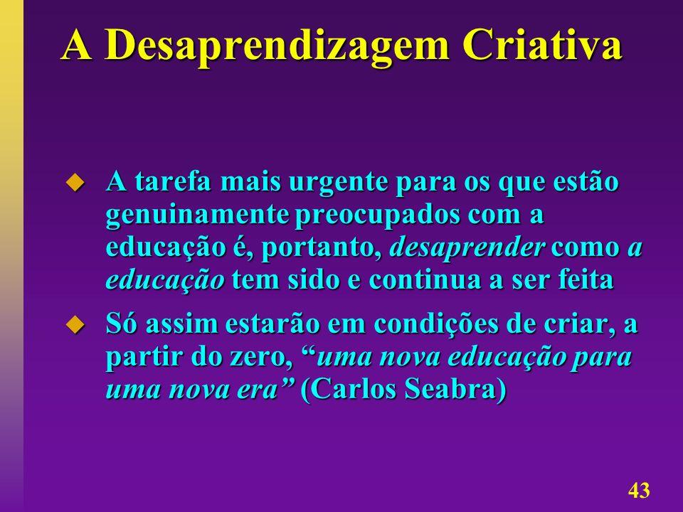 A Desaprendizagem Criativa