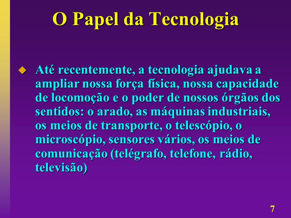 O Papel da Tecnologia