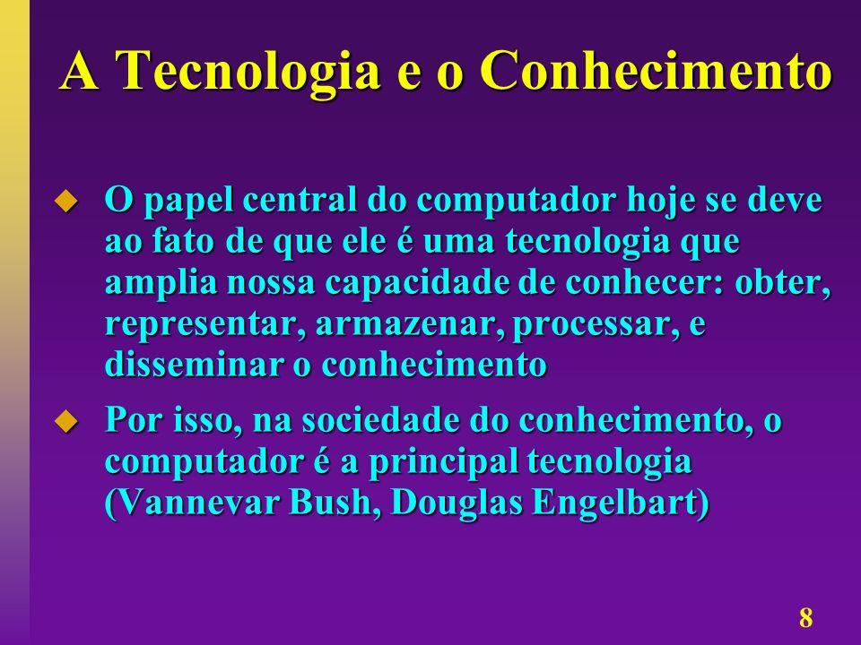 A Tecnologia e o Conhecimento