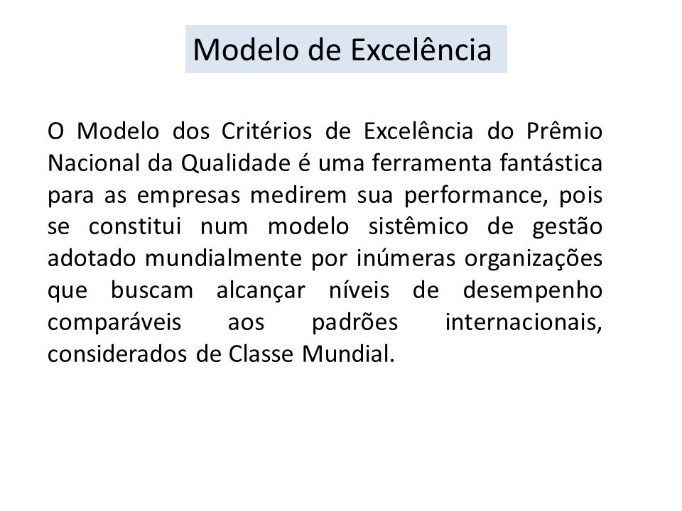 Modelo de Excelência