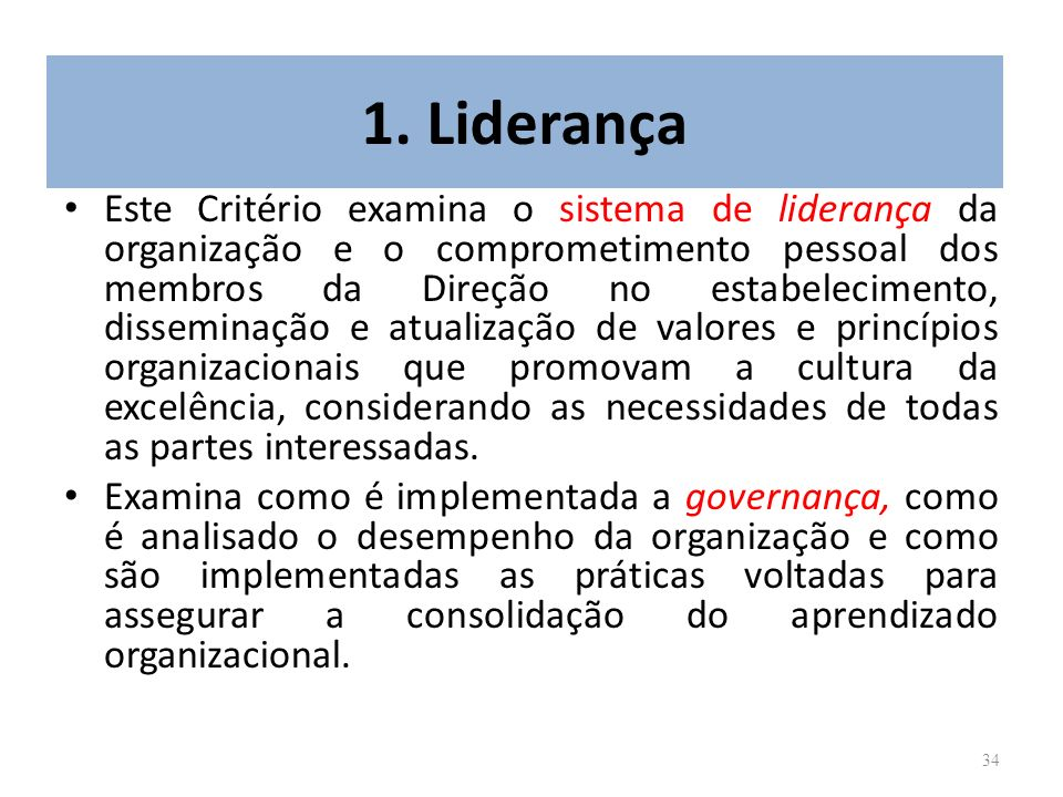 1. Liderança