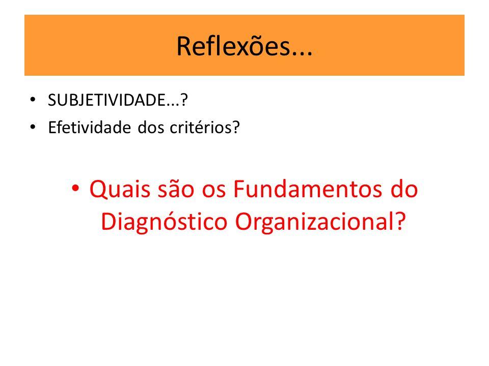 Quais são os Fundamentos do Diagnóstico Organizacional