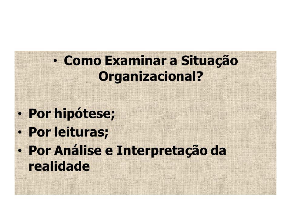 Como Examinar a Situação Organizacional