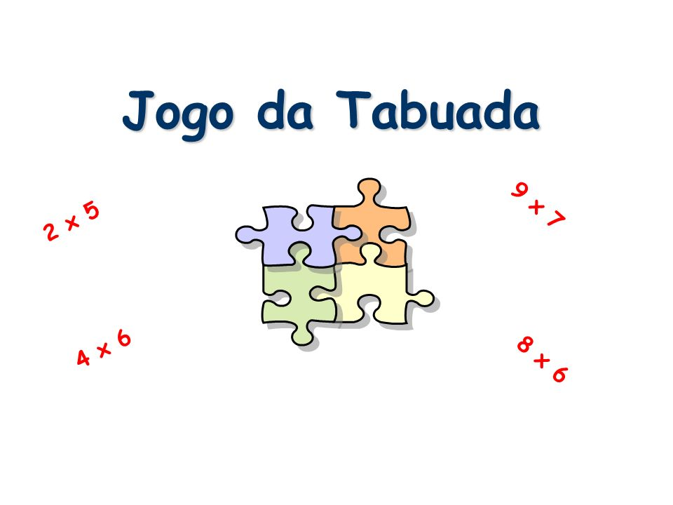 Jogo da Tabuada 9 x 7 2 x 5 4 x 6 8 x 6