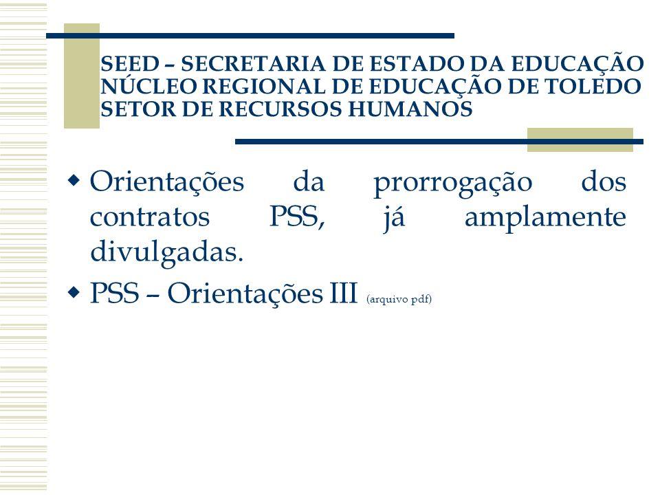 PSS – Orientações III (arquivo pdf)