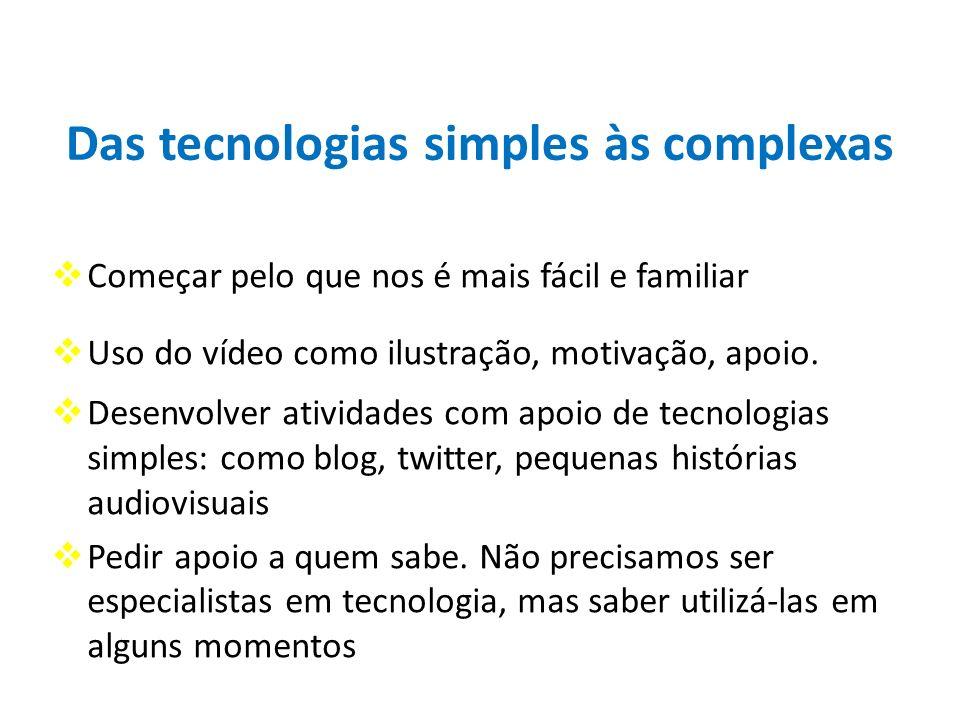 Das tecnologias simples às complexas