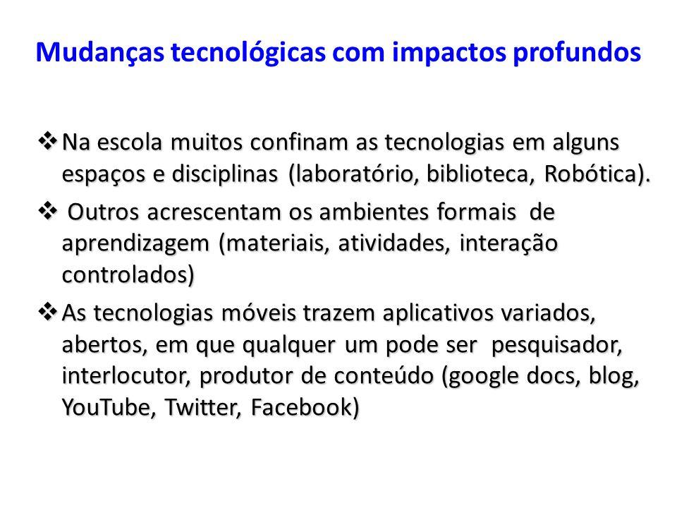 Mudanças tecnológicas com impactos profundos