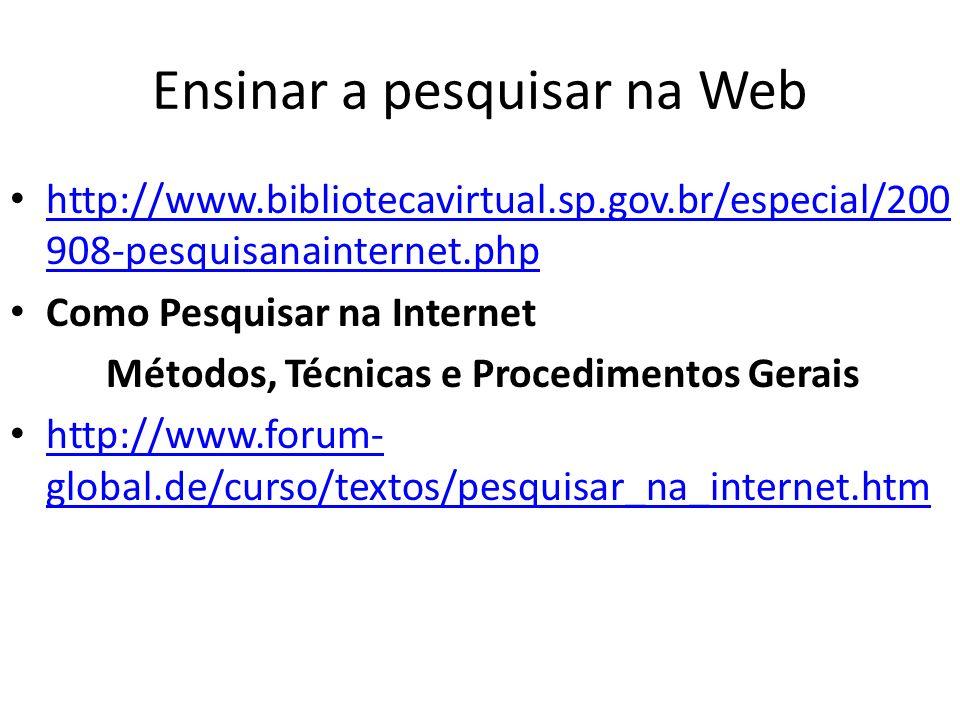 Ensinar a pesquisar na Web