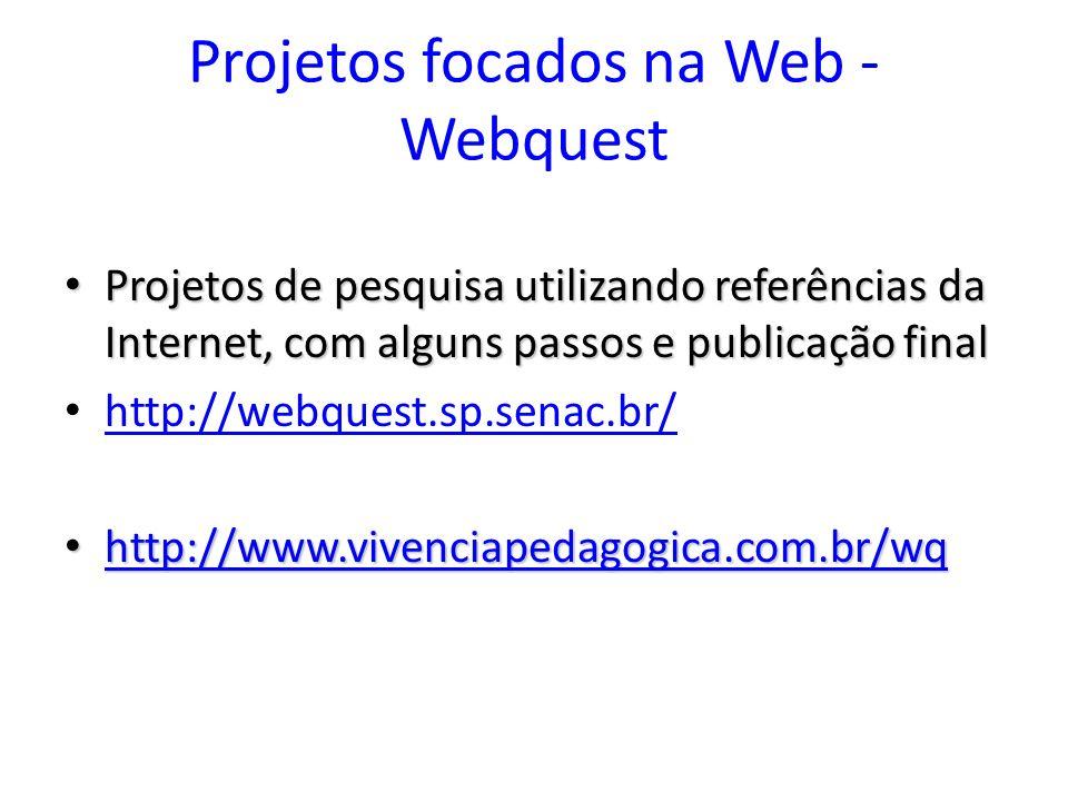 Projetos focados na Web - Webquest