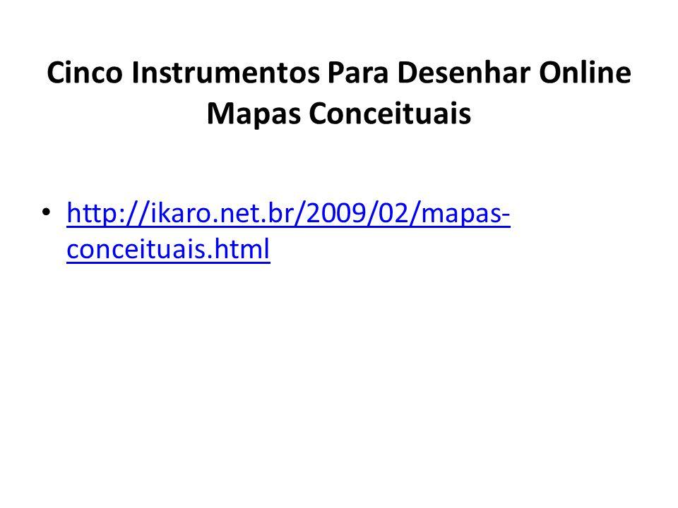 Cinco Instrumentos Para Desenhar Online Mapas Conceituais