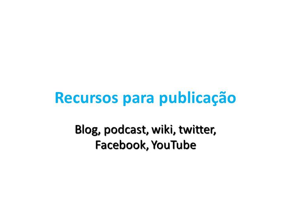 Recursos para publicação