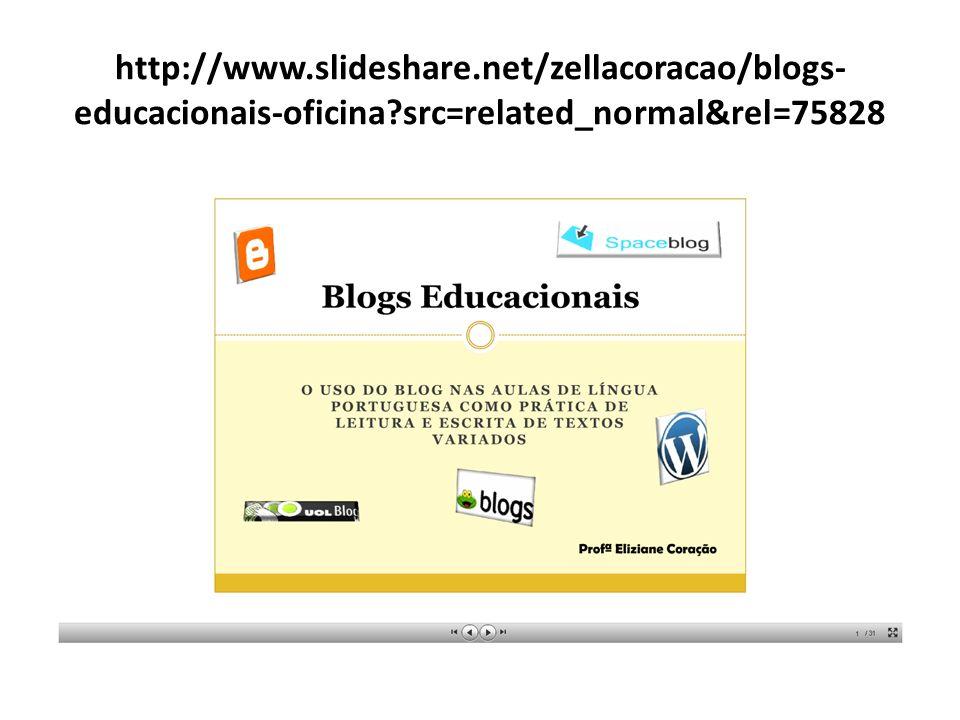 http://www. slideshare. net/zellacoracao/blogs-educacionais-oficina