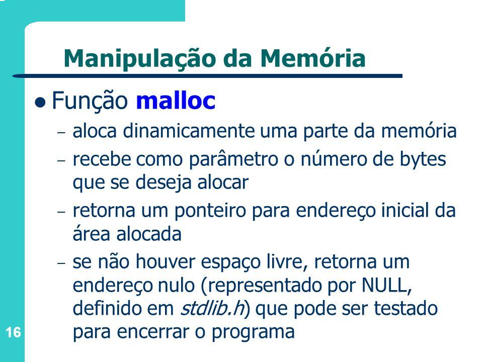 Manipulação da Memória