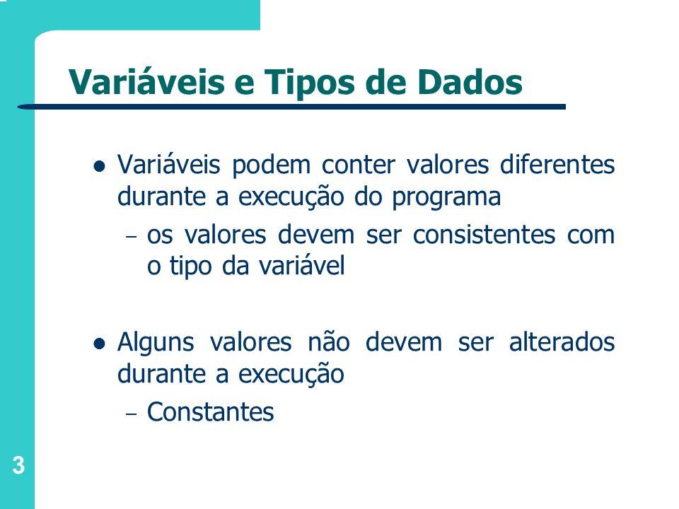 Variáveis e Tipos de Dados