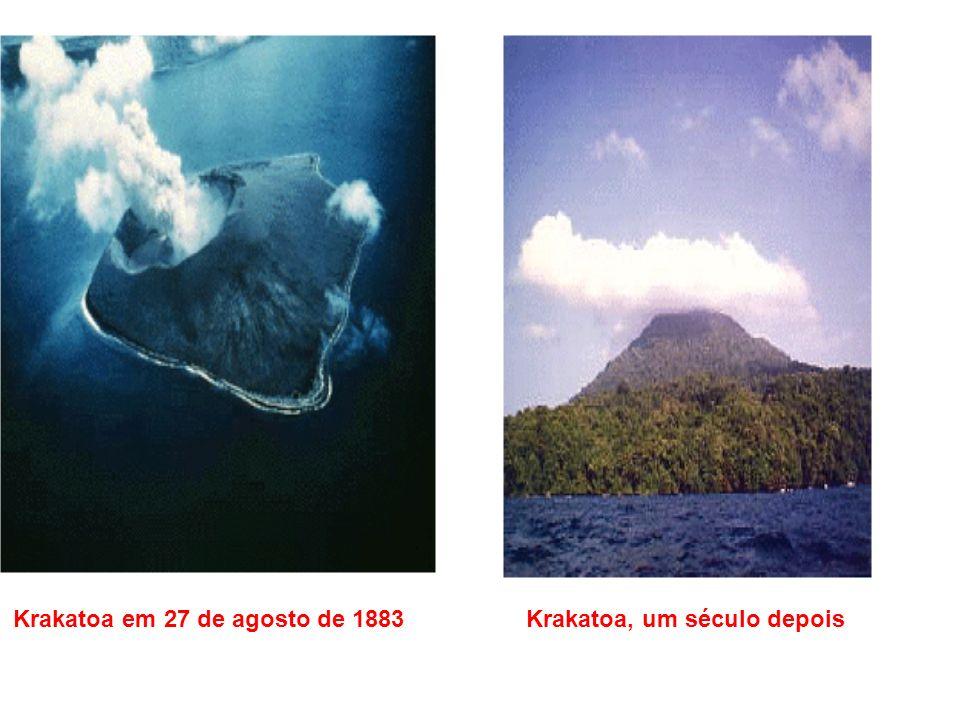 Krakatoa em 27 de agosto de 1883