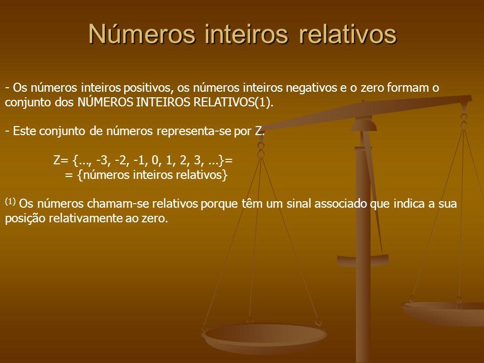 Números inteiros relativos