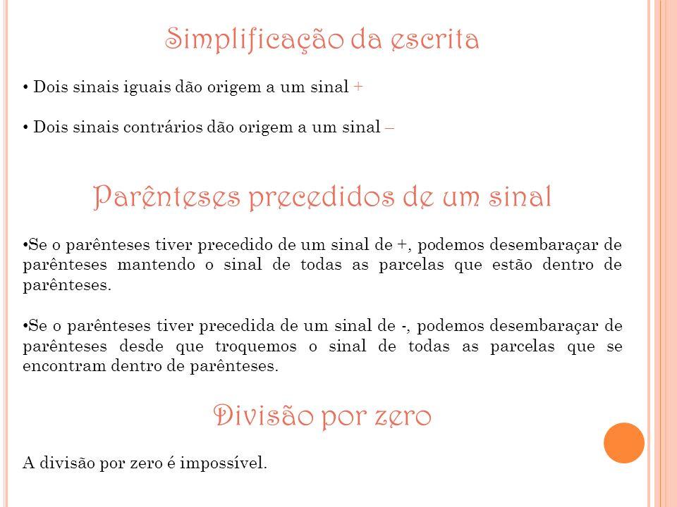 Simplificação da escrita