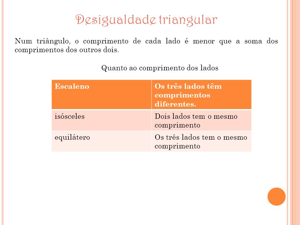 Desigualdade triangular