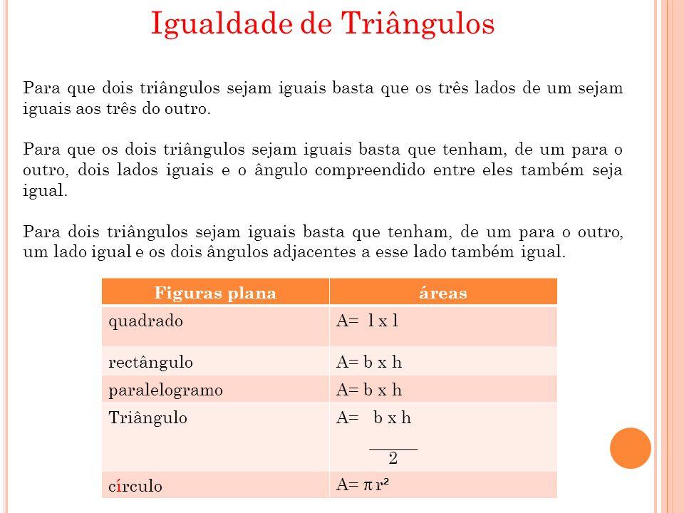 Igualdade de Triângulos