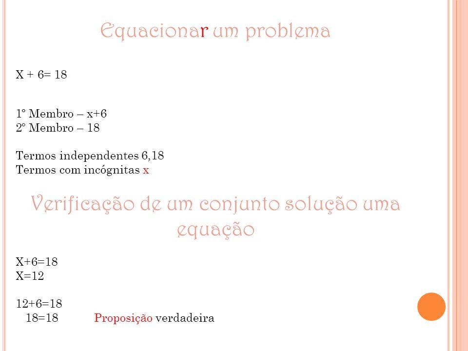 Equacionar um problema