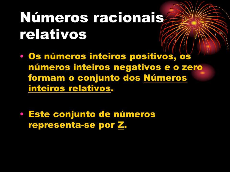 Números racionais relativos
