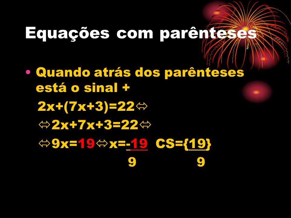 Equações com parênteses