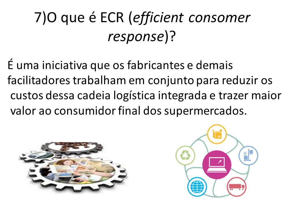 7)O que é ECR (efficient consomer response)
