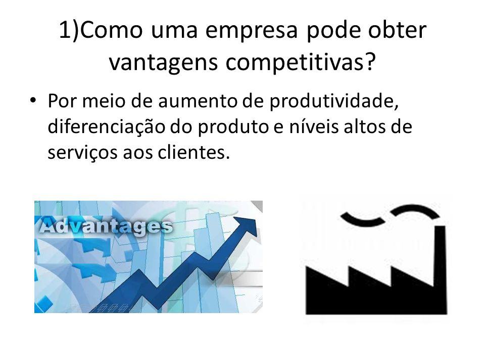 1)Como uma empresa pode obter vantagens competitivas