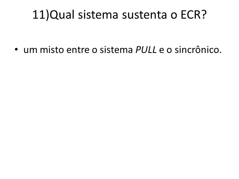 11)Qual sistema sustenta o ECR