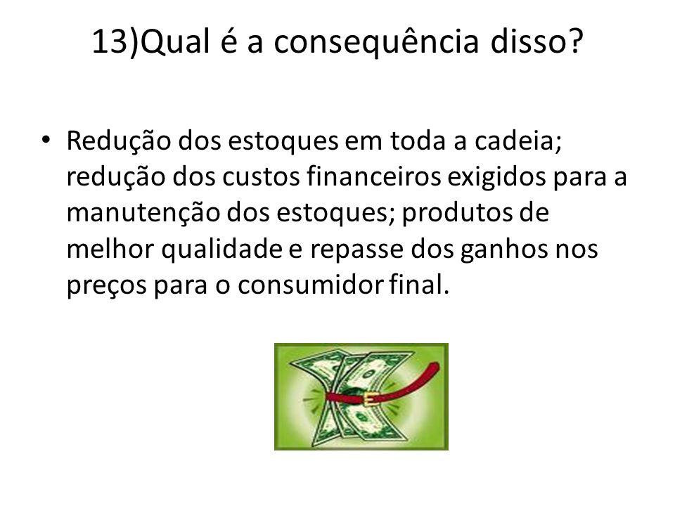 13)Qual é a consequência disso