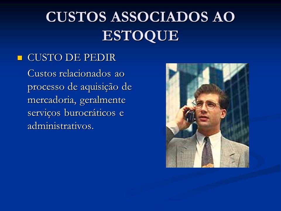CUSTOS ASSOCIADOS AO ESTOQUE