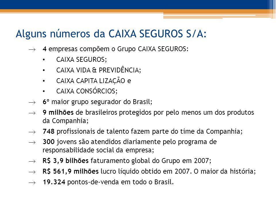 Alguns números da CAIXA SEGUROS S/A: