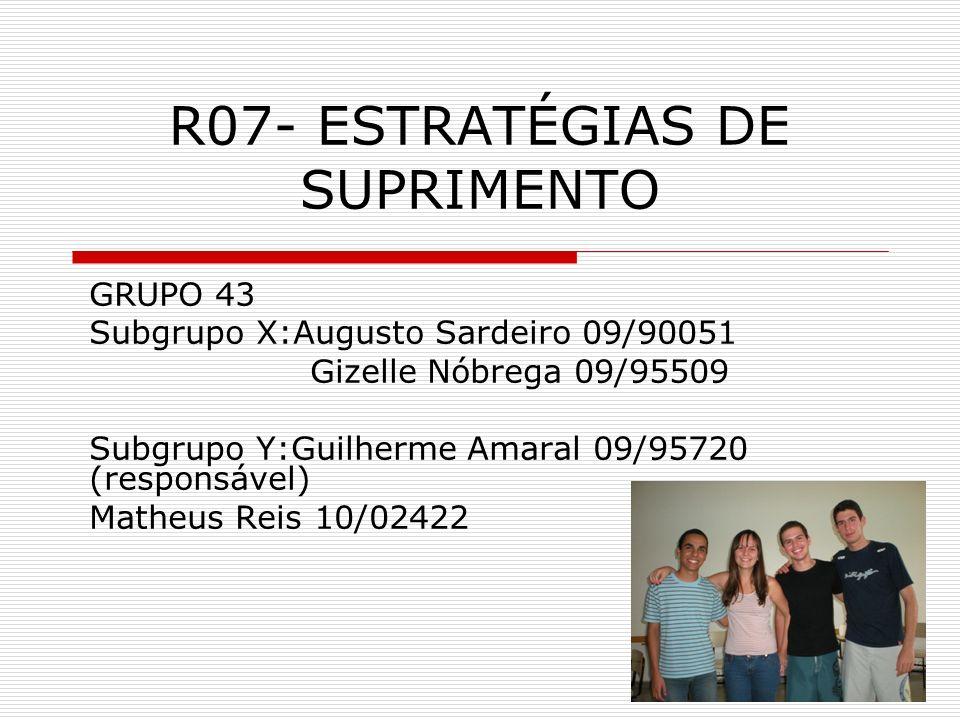 R07- ESTRATÉGIAS DE SUPRIMENTO
