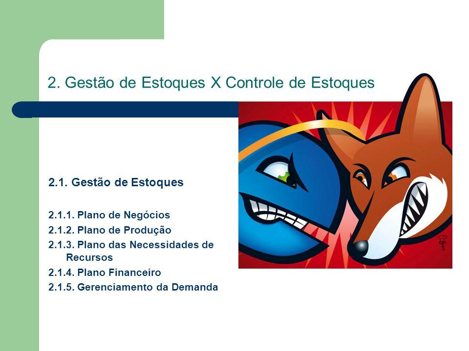 2. Gestão de Estoques X Controle de Estoques