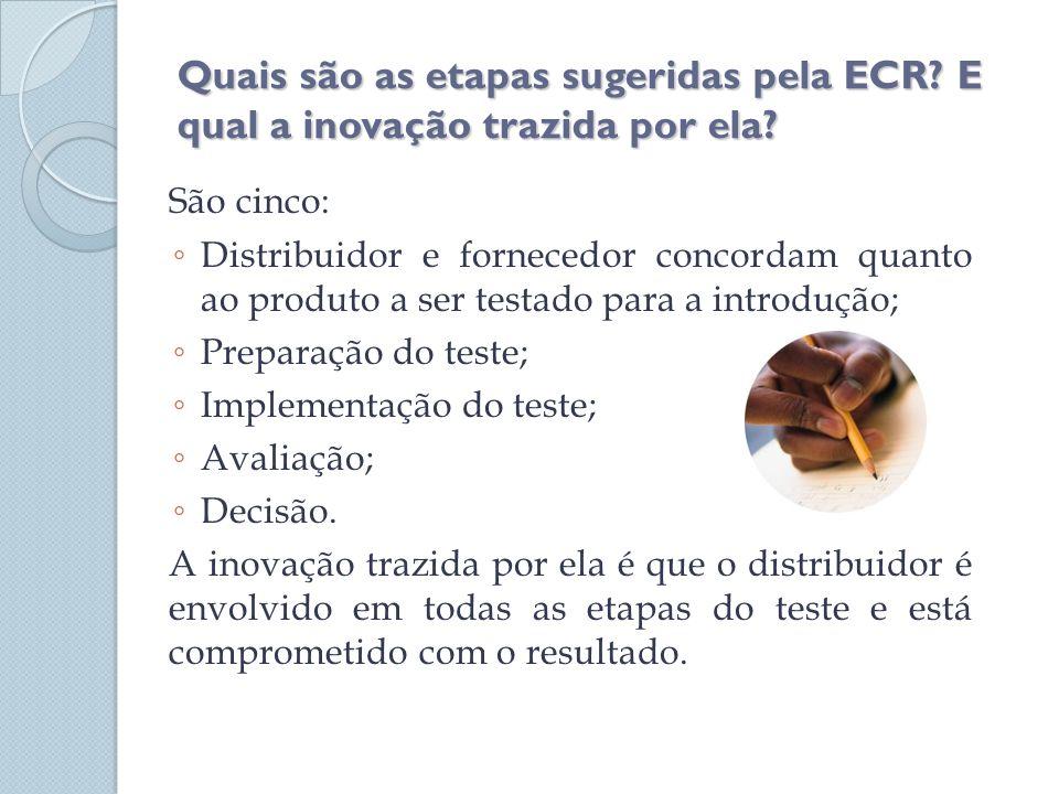 Quais são as etapas sugeridas pela ECR