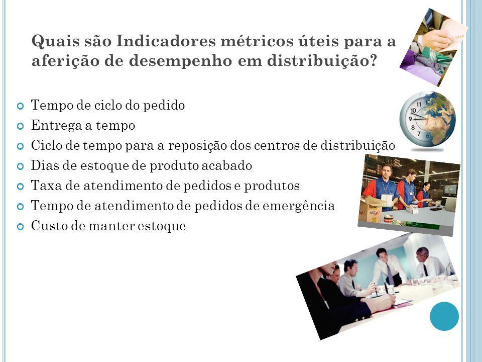 Quais são Indicadores métricos úteis para a aferição de desempenho em distribuição